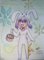 HAPPY EASTER :D (ft. Medina and her bunny charles) by DaisyLovin