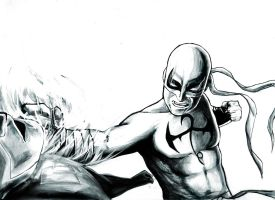 Iron Fist Daredevil Ink by LeonardoEnrique
