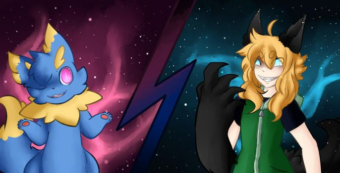 Space deity face off by Kari-chan622