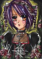 Sixth Card - Gothic Rose by NekoponLove