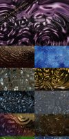 Glossy circles on a water backgrounds by DiZa-74