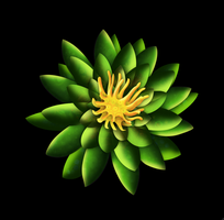 Green Flower Illustration by kschaman