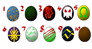 Creature Egg-adopts Batch 2 by reaver570