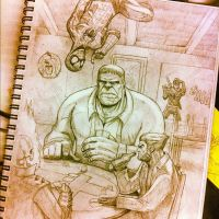 New Fantastic Four Sketch by Bourrouet
