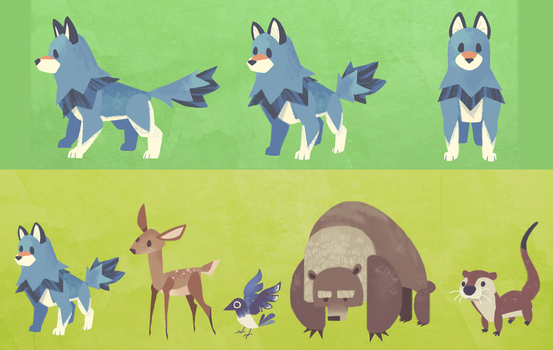 Forest Critter Character Lineup by Bedupolker