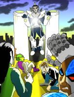 Titans and Ninja Meet Dr. Light 2.0 by Afalstein
