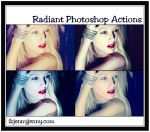 Free Radiant Photoshop Actions by ibjennyjenny