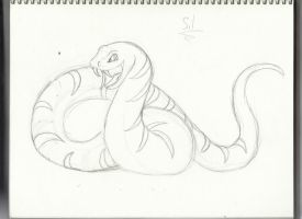 Res Commission: Snake fursona WIP by Wildbatty