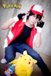 Red, the Trainer - PKM by in-ciel