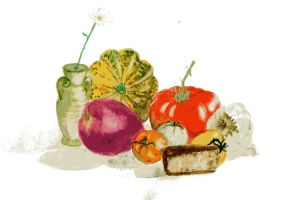 Veggies and fruits..and bread by pUmpkinhead666