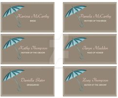 Cute Bridal Shower Place Cards by coolstergraphics