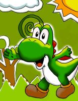 Yoshi topsy turvy colored by DXYoshiXD