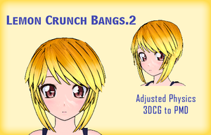 MMD- Lemon Crunch Bangs.2 -DL by MMDFakewings18