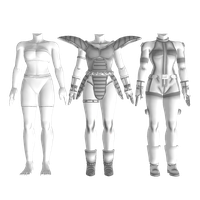 DBXV - Human Female Clothes - Pack I by Postmortacum