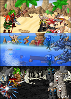 Beach and Graveyard battles by KupoGames