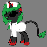 creepy nurse pony auction!(CLOSED) by Petya14-Adopts
