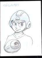 Megaman sketch by chico-nube