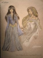 Luthien and Galadriel by melime6
