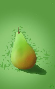 Tasty pear by mihonshi
