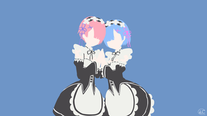 Ram and Rem | Re:Zero Minimalist Anime by Lucifer012