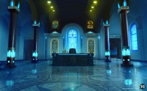 Background - Holy Father's Office by SimonBoxer