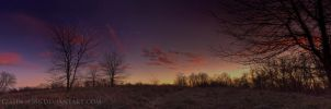 Sunset at Schnabel Woods by Jacob-Routzahn