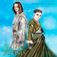 GAME OF THRONES  FANART : Jaqen and Arya Season5 by noji1203