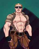 Hot Cop by AllMaleArt