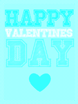 Blue Valentine Day Card by CaroTexturesInk