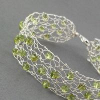 Peridot Bracelet in Sterling by RavenBaubles