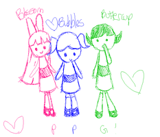 Crappy PPG doodle by kirbykandy