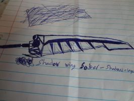 Shaderi's shadow weapons the shadow wing saber by shadowghost09