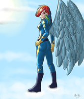 Rainbow Dash The Wonderbolt --Humanized-- by ShinZm1911