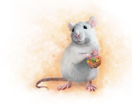 Cute rat by chante-cler