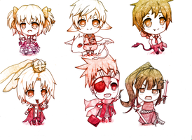 Fav animes: chibi's! by Hanromi