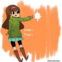 Mabel Pines by streaksketcher