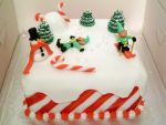 Christmas Cake: The Sad Invention of Snow Angels by Rebeckington