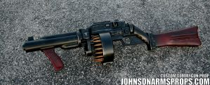 Diesel Punk Style Tommy Gun Prop by JohnsonArms