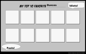 Your top 10 favorite Dunces Meme by sweetheart1012