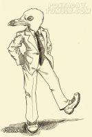 Davey in a suit by Pokeaday