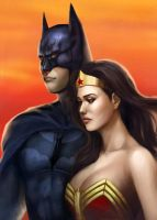 Batman, Wonder Woman by WeijiC