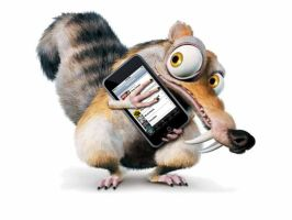scrat with iphone by leadShard