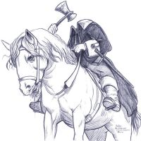 Daily Sketches Headless Horseman by fedde