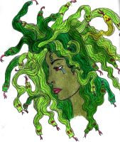 Medusa's Sorrow by MeredyxD