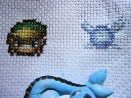 Cross stitch Link and Navi by Miloceane