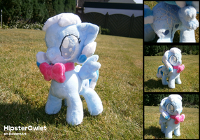 Snowdrop Plushie with Bow-tie by HipsterOwlet