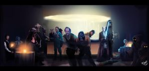 Locky in the Star Wars Cantina by Grange-Wallis