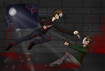The battle of the sides (Cry and Mad!Cry) by Enderkitty01