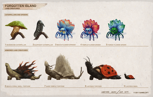 Forgotten Island Land Creatures (continued) by SamYangArt