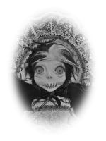 Jodie creepy black and white by SoDarkSoCute